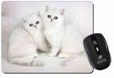 Exotic White Kittens Computer Mouse Mat Christmas Gift Idea, AC-52M