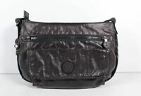 Kipling Black Women's Zip Shoulder Pocket Crossbody Handbag