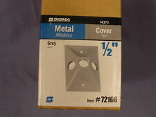 """Sigma Electric 14373 72166 Box of 15 Grey Cover 1/2"""""""