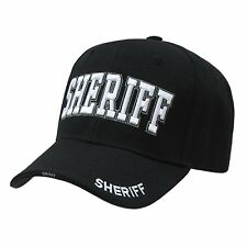 BLACK SHERIFF LAW ENFORCEMENT HAT HATS CAP CAPS
