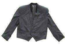 CLUB PARIS TUXEDO JACKET CLASSIC SHORT BLACK  MODERN WEAR VINTAGE 1960's Size 46