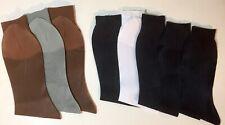 """8 PAIRS TUXEDO SEE THROUGH DRESS HOSIERY SILKY SHEER NYLON 10"""" - 13"""" MIXED SOCKS"""