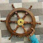 Nautical Collectible Marine Wooden Ship Steering Maritime Wheel Pirate Decor