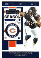Khalil Mack 2019 NFL Panini Contenders Football Base Card #71 Chicago Bears