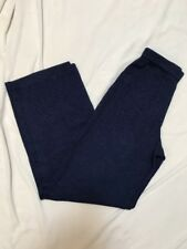 St. John Navy Blue Santana Knit Pants Size P