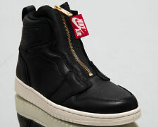 Womens Nike Air Jordan 1 High Zip AQ3742-016 Black/Sail NEW Size 8