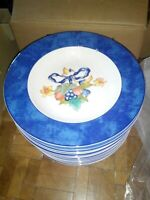 Assiette creuse porcelaine BERNARDAUD Limoges Borghèse nuagé bleu NEUVE