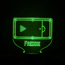 Pool Table Kids Room Personalised Name Childrens Colour Changing LED Night Light