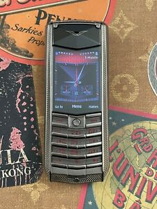 Genuine Vertu Ascent X Knurled Red Black leather Extremely RARE Collectible