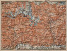 VAL MASINO/BREGAGLIA ALPS. Disgrazia Caspoggio Tellina Malenco Sondrio 1920 map