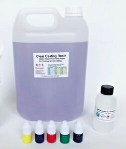 Casting Resin Water Clear Kit - Translucent Pigments -BASIC