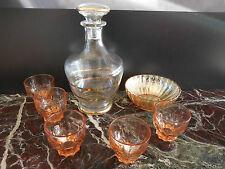 carafe coupelle verres art-déco art nouveau vintage CERAMIC by PN