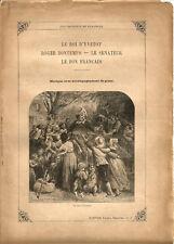 """Partition """"Les Chansons de Béranger"""" N°1 Lire détails sur la photo.8 pages.RARE+"""