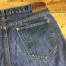 """Lee Casual Kent Relaxed Straight Fit Denim Jeans Blue 34"""" Waist 32"""" Leg"""