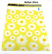100 DAISY DESIGNER 10 x 13 MAILER POLY BAGS MAILING PLASTIC BAGS Des: 8