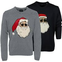 Only & Sons Mens Xmas Santa Plus Size Pullover Long Sleeves Jumpers Sweatshirt