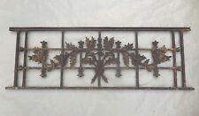 110 / 120 cm (8 dispo) - Ancien garde corps de fenêtre en fonte, art nouveau