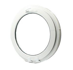 █■█ █ ▀█▀ Fenêtre à soufflet ronde, oeil de boeuf,de haute qualité PVC NEUF VEKA