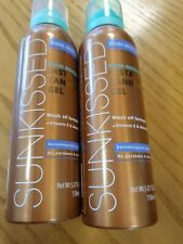 2 Sunkissed - Instant Tanning Gel (Water Resistant) 150ml NO PARABENS OR ALCOHOL