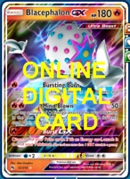 1X Blacephalon GX 52/214 Online Card Pokemon Card TCG PTCGO Digital Card