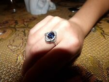 antique filigree blue sapphire ring SALE WOW!!!!!!
