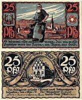 Notgeld Schein 50 Pfennig 1921 Bad Salzuflen (Nordrhein-Westfalen) SEHR SELTEN
