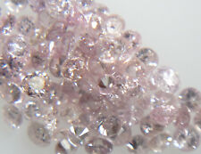 10pc 0.8-1mm Natural Loose Pink Diamond Brilliant Cut Round I Clarity for Settin