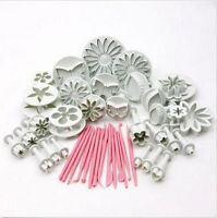 47pcs Fondant Sugarcraft Cake Decorating Icing Plunger Tools Mold Mould New
