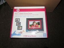 """New hp 7"""" Digital Picture Frame DF780a2 512MB Internal Memory Insert card"""
