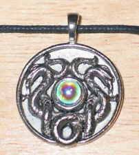 Metal Pendant Necklace New Unused Nathair Snake Celtic Visions Pewter