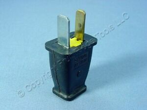 Cooper Black Straight Blade Male Plug 15A 125V Polarized NEMA 1-15P Bulk SA540