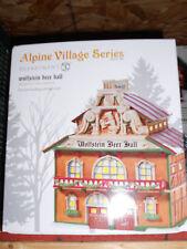 DEPT 56 ALPINE VILLAGE WOLFSTEIN BEER HALL *Excellent Store Display*