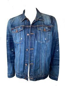 7 For All Mankind Mens Denim Trucker Jacket Size XL