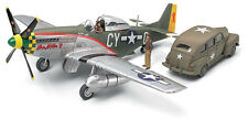 Tamiya 89732 1/48 Model Kit North American P-51D Mustang w/US Army Staff Car