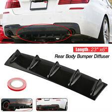 "23""x6"" Universal Lower Rear Body Bumper Diffuser Shark 5 Fin Kit ABS Spoiler"