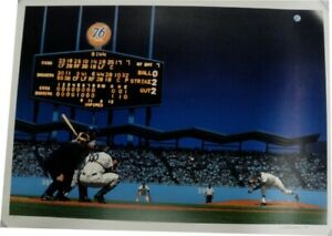 Sandy Koufax Authentic Perfect Game Poster Hand Signed by Artist Bill Purdom