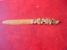 Letter Opener Antique Vintage Wood. Mango Beautifully Worked (Antique Opener)