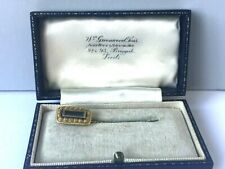 Georgian Mourning Stick Plaited Hair Work Pin Antique W/ Leather Box 1821