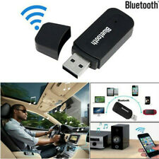 USB Bluetooth Music Audio Receiver + 3.5mm AUX to USB Adapter Car& Speaker