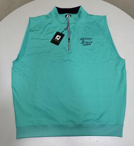 NWT Footjoy Performance Half Zip sleeveless Vest Spearmint Extra Large XL