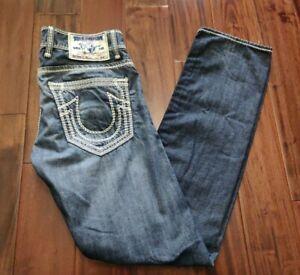 True Religion Slim Blue Jeans Men's 32 Waist 33 Inseam