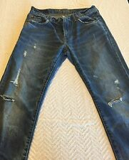 Men's American Eagle Blue Jeans Medium Wash Size 32/32 100% Cotton Grunge Look