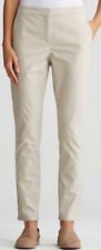 Eileen Fisher Pebble Washed Organic Cotton Twill Slim Ankle Pants Size 2