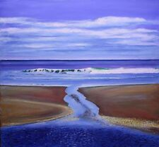 "Original Oil on Canvas ""Tidal Flow"" by Ross D Jahnig"
