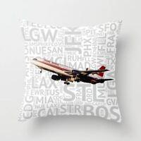 "Trans World Airlines (TWA) Lockheed L-1011 - Throw Pillow (24"" x 24"")"
