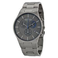 Skagen Balder Chronograph Grey Dial Titanium Bracelet Mens Watch SKW6077