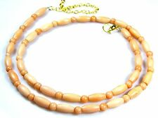 Natural Coral Tube & Sphere Beads Necklace Women Gemstone Ct 79 Birthday Gift