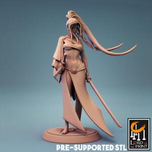 Female Samurai Fighter Miniature D&D DnD Pathfinder RPG