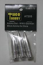 THOR HOBBY 1/72 A7205 Metal Ammo WWII German 80cm Ammo for Dora Railway Gun