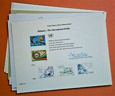 """(10) Different United Nations Postal Souvenir Cards, """"Philately-The..."""" plus"""